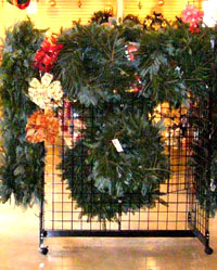 Our wreathes are made on sight from fresh pine branches. They are a great way to decorate and scent your home during the holiday season.
